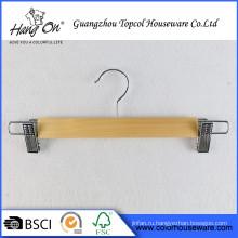 Популярный дизайн противоскользящим днища деревянные вешалки