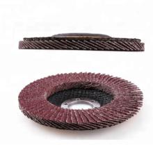 Disco de flap de óxido de alumínio com apoio de fibra de vidro