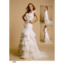 Astergarden mermaid straple sleeveless A-line lace wedding dress bridal gown D029