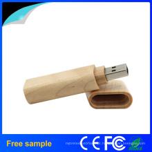 Logotipo reciclável de madeira USB Flash drive para o presente da promoção