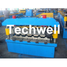 Trapezoidal Roof Panel Sheet Roll Forming Machine CE ISO TW35-200-1000
