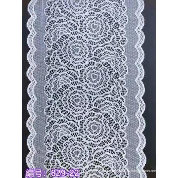 Нейлон, спандекс, цветочная кружевная отделка, 22 см