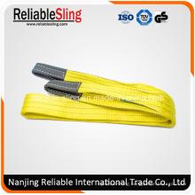 100% Polyester Eye & Eye Double Ply Flat Crane Webbing Sling for Lifting