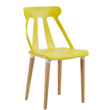 Оптовая продажа дешевой современной скандинавской мебели полый пластиковый деревянный обеденный стул