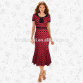 Dernières Ladies Print Wave Point mi-mollet Frock femmes indiennes partie porter Midi Pencil Dress Casual robe de queue femmes