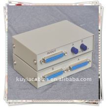 2 Port 25 Pin DB-25 Parallel Printer Sharing Switch Box