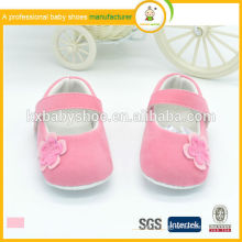 Hot sale high quality low price with flower velvet soft kids dress shoes