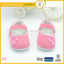 Горячее сбывание высокого качества низкая цена с цветами бархата мягкие ботинки платья детей