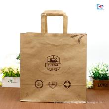 Factory customs food craft paper bag oil proof dessert cake packaging bags