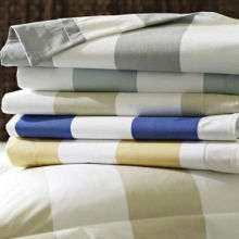 Bed Linens with Colorful Strip Pattern, Suitable for Home, Hotels