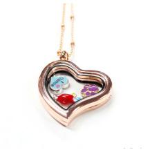 Moda jóias 30 milímetros em forma de coração encantos flutuantes Locket