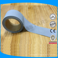 5cm high light silver perforated reflective tape without edge