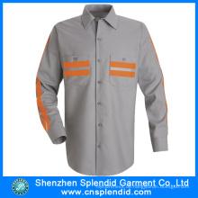Herrenhemd Hersteller 100% Baumwolle Langarm Herrenhemd