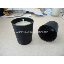 Mat Black Glass Jar Gift Candle