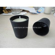 Матовый Черный Стеклянные Подарка Свечки Опарника