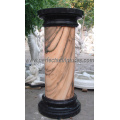 Stein Marmor Granit Sandstein Hollow römischen Säulen (QCM041)