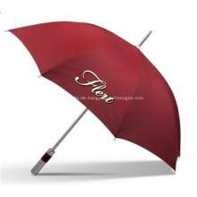 Werbe-Marken-Auto-gerade Golf-Regenschirme