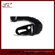 Tactical Bungee Strap Two Point Rope Strap Hook Belt Rifle Sling Black