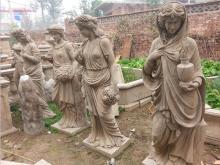 Taman hiasan hidup saiz patung wanita Marble antik