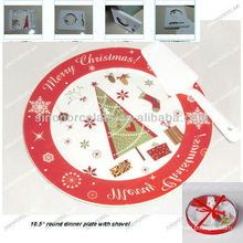 Christmas 2pcs porcelain cake plate set with gift box for BS12056H