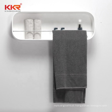 2020 Customize bathroom Decorated Solid Surface Display Wall Mounted Storage Shelf