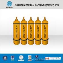 Cylindre de gaz d'acétylène en acier sans soudure (ISO3807 229X4.0)