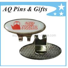 Nach Maß gedruckter Logo-Kappen-Klipp mit Kugel-Markierung (Golf-20)