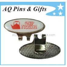 Custom Made Printed Logo Cap Clip with Ball Marker (Golf-20)