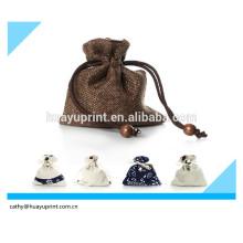 Drawstring saco saco portátil contendo saco de chá copo / Glass Set