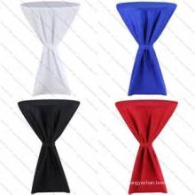 elegante elastano lycra redonda toalha de mesa de cocktail para casamento por atacado roupa de