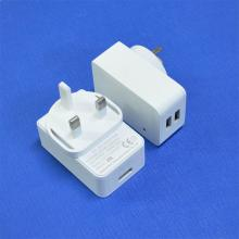 5V 3A USB Port Power Charger Adapter - Plugue BRITÂNICO