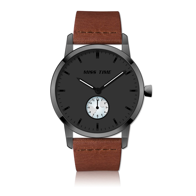custom design steel blank dial mens watch