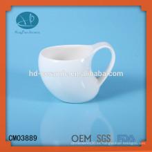 Taza de cerámica, taza elegante, taza especial, taza modificada para requisitos particulares, taza de cerámica blanca