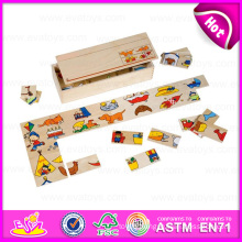 Hot New Product for 2015 Kids Wooden Domino Toy Game, Domino Game Toy for Children, Promotion Cheap Wooden Domino Game Toy W15A056