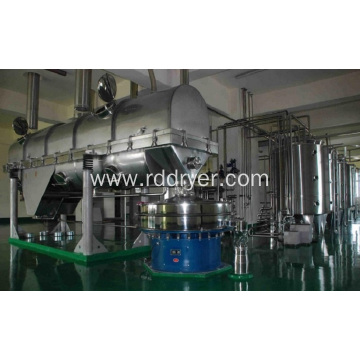 Special vibrating fluidized bed for sodium glucose