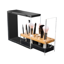 Acrylic Brush Holder Organizer Display with Drawer