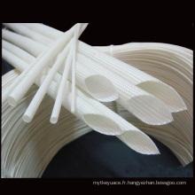 Isolez électrique tube de fibre de verre coloré rond de couverture de colle