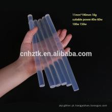 Bastões de cola quente transparente