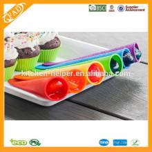 BPA freie Popsicle-Formen Großhandels- / Silikon-gesetzte Popsicle-Form / Nahrungsmittelgrad-Silikon-gesetzte Popsicle-Form