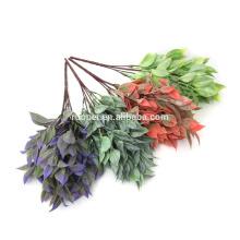 2017 новый искусственный продукт листья ветки листья дерево с 4 цвета