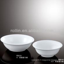 Meilleur atelier en céramique à double ligne en gros, bol en porcelaine pour hôtel et restaurant