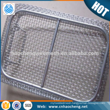High quality disinfection sterilization 304 stainless steel wire mesh basket fit ultrasonic cleaning