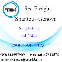 Sán đầu cảng biển vận chuyển hàng hóa vận chuyển đến Genova