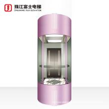 ZhuJiangFuji Small Shaft Residential Panoramic Elevator Lift With Good Price & Residential House Elevator