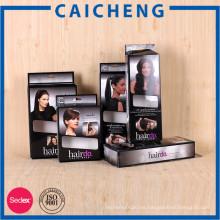 Caja de empaquetado de papel plegable de la extensión del pelo de la venta directa de la fábrica