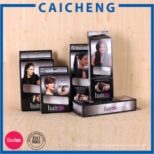 Usine vente directe personnalisée pliage des cheveux extension papier boîte d'emballage