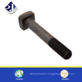 china supplier high quality black finished steel square head bolt