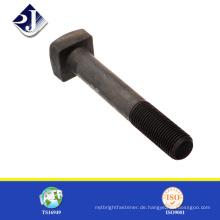 Porzellanlieferant hochwertiger schwarzer fertiger Stahl quadratischer Kopfbolzen