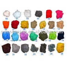 Color Polyester Staple Fiber dope teñido en almacén listo para su envío