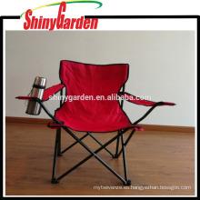 Silla plegable que acampa del ocio del patio con la detención, silla de playa de la pesca del tubo de acero